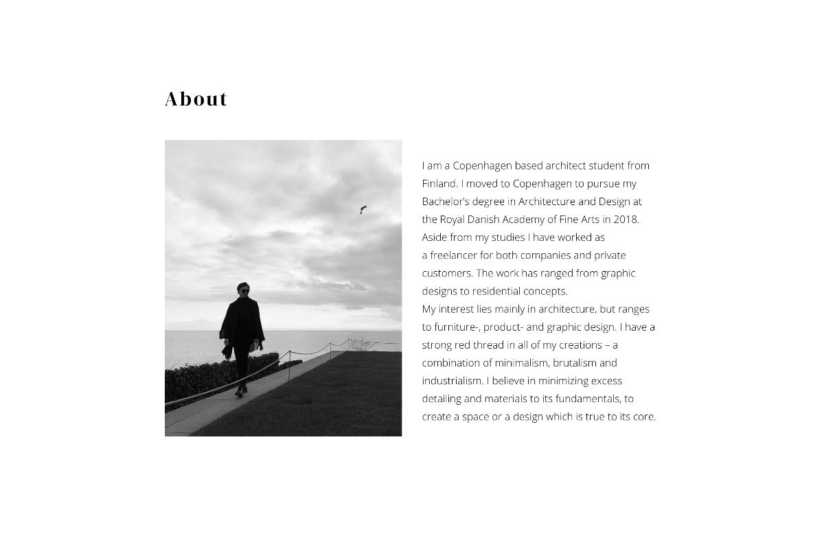 Portfolio showcase website for Alvar Silvennoinen by Olli Karvonen.