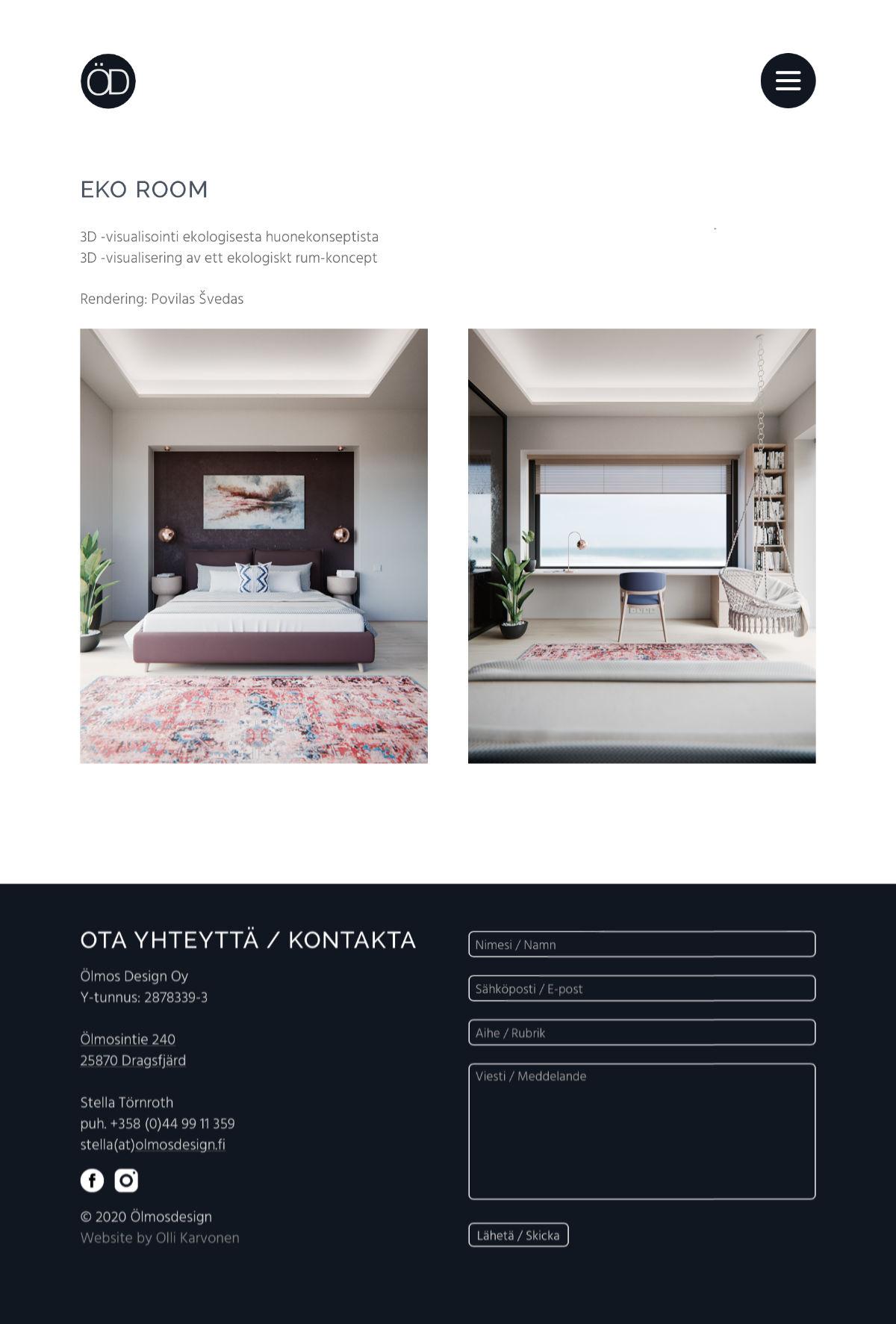 Website/portfolio for Stella Törnroth. Website based on her design. Made by Olli Karvonen.