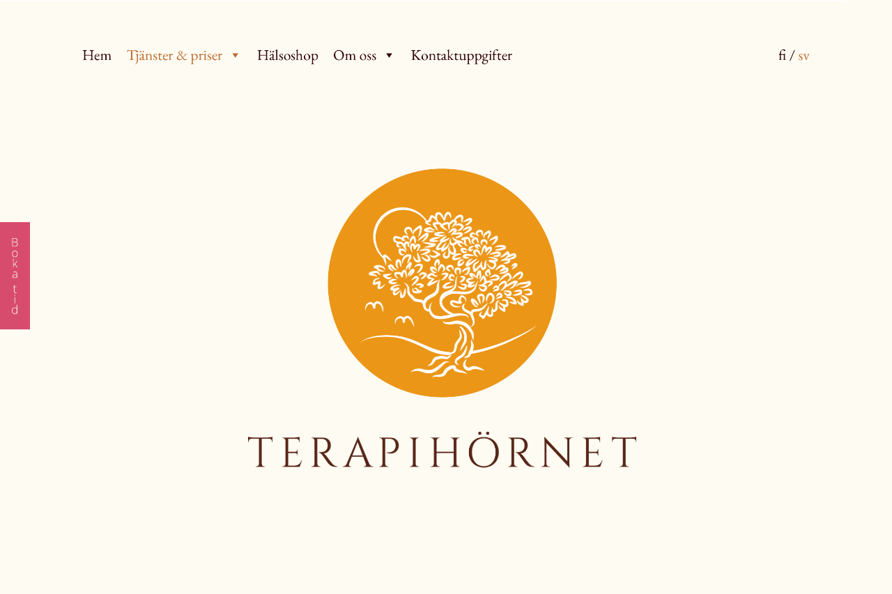 A clear and minimalistic website for Terapihörnet. Designed and coded by Olli Karvonen.