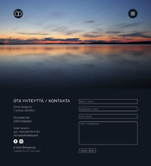 Website/portfolio for Stella Törnroth. A designer working from Ölmos in the finnish archipelago under the name Ölmosdesign. With good values cherrishing the nature and a great eye for colour she creates a good look for your business and home. Website based on her design.