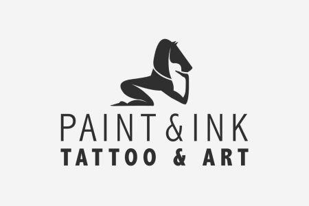 Paint & Ink, tattoo and art logo design by Olli Karvonen